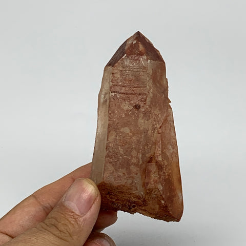 "114.9g, 3.3""x1.7""x1.1"", Natural Red Quartz Crystal Terminated @Morocco, B11501"