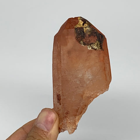 "85.8g, 3""x1.6""x0.9"", Natural Red Quartz Crystal Terminated @Morocco, B11504"