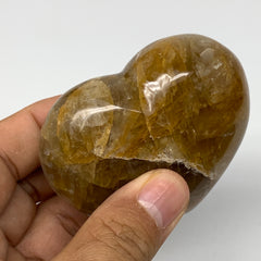"159.9g,2.3""x2.6""x1.1"" Natural Orange Quartz Heart Crystal Reiki Energy,B3440"