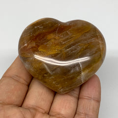 "119.3g,2.1""x2.4""x1"" Natural Orange Quartz Heart Crystal Reiki Energy,B3455"