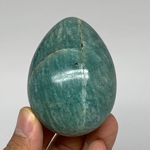 "177.7g,2.5""x1.9"" Natural Amazonite Egg Crystal Reiki Energy @Madagascar,B5340"