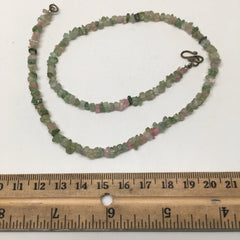 13.9 Grams, Natural Watermelon Tourmaline chips Beads Strand @Afghanistan,TB35 - watangem.com