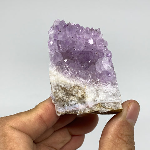 "198.7g, 3""x1.5""x2.2"", Natural Amethyst Cluster Mineral Specimen @Morocco,B10691"
