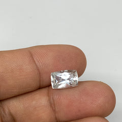 2.95cts, 10mmx6mmx6mm, Aquamarine Crystal Facetted Stone Loose @Pakistan,CTS163
