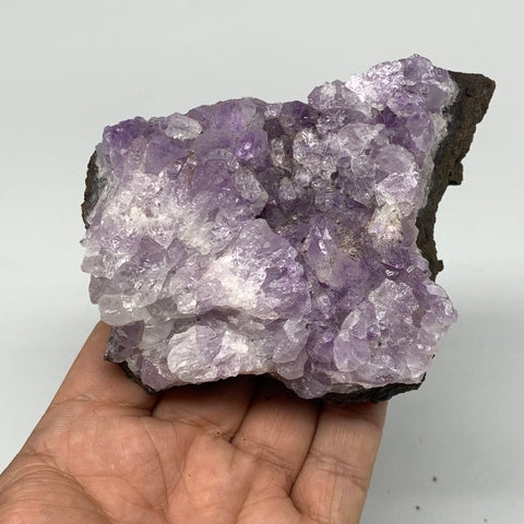 "379.9g, 3.9""x2.7""x1.7"", Natural Amethyst Cluster Mineral Specimen @Morocco,B1069"