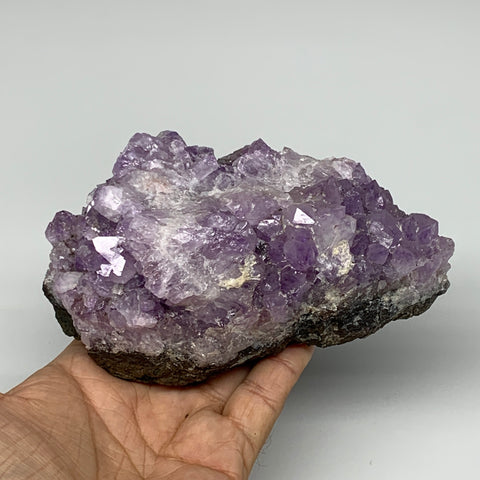 "806g, 5.5""x3.2""x2.5"", Natural Amethyst Cluster Mineral Specimen @Morocco,B10697"