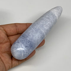 "230.7g,5.3""x1.3"" Natural Blue Calcite Wand Stick, Home Decor, Collectible, B6177"