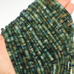 "1 Strand, 3mm-4mm,15"" Ancient Tube Shape Roman Glass Beads Strand, BN105"