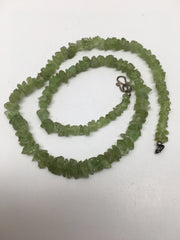33.9 Grams, Small Natural Rough Green Peridot chips Beads Strand @Pakistan,TB105 - watangem.com