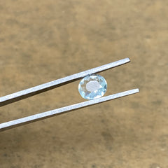 1.19cts, 8mmx6mmx3mm, Aquamarine Crystal Facetted Stone Loose @Pakistan,CTS189