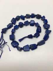 "9-14mm,Natural Polished Lapis Lazuli Free Form Bead Strand @Afghanistan 16"",LB75"