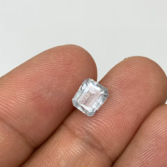 1.18cts, 7mmx5mmx4mm, Aquamarine Crystal Facetted Stone Loose @Pakistan,CTS203