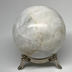 "596g, 2.9"" Natural Milky Quartz Sphere Crystal Gemstone Ball @Madagascar,B3509"