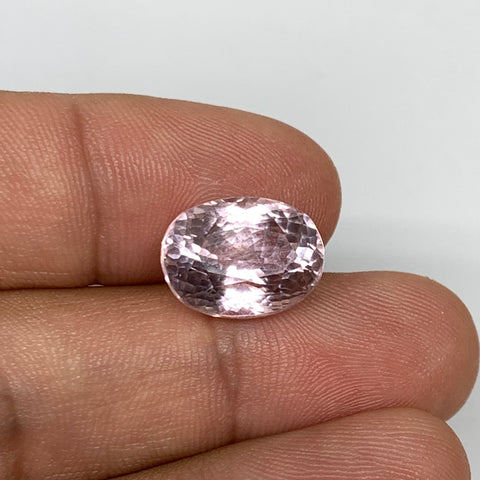 8.75cts, 13mmx10mmx8mm,Heated Kunzite Crystal Facetted Stone @Afghanistan,CTS214