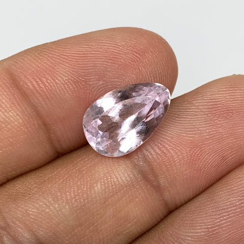 5.84cts, 13mmx9mmx6mm,Heated Kunzite Crystal Facetted Stone @Afghanistan,CTS228