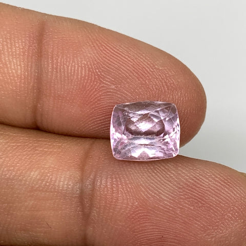 4.05cts, 9mmx8mmx6mm,Heated Kunzite Crystal Facetted Stone @Afghanistan,CTS229