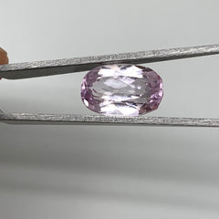 7.49cts, 14mmx9mmx7mm,Heated Kunzite Crystal Facetted Stone @Afghanistan,CTS230