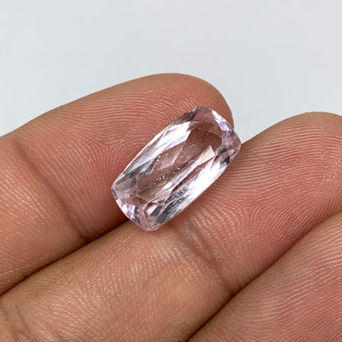 7.80cts, 15mmx8mmx6mm,Heated Kunzite Crystal Facetted Stone @Afghanistan,CTS231