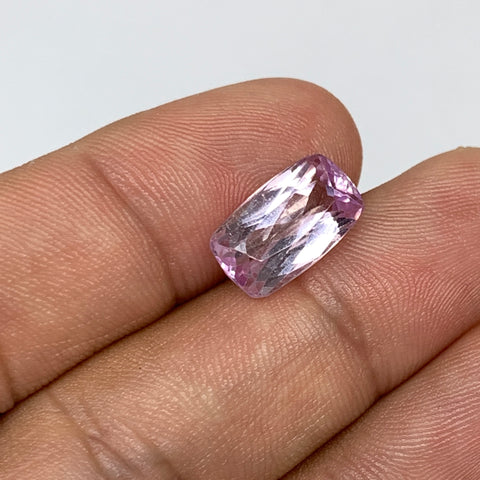 5.11cts, 13mmx7mmx6mm,Heated Kunzite Crystal Facetted Stone @Afghanistan,CTS232