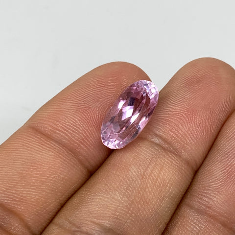 6.39cts, 14mmx7mmx7mm,Heated Kunzite Crystal Facetted Stone @Afghanistan,CTS235