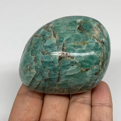 "232.2g,2.6""2""x1.8"" Natural Untreated Amazonite Palm-Stone Polished Reiki,B1846"