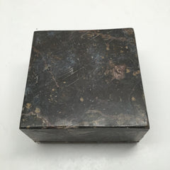 548g Square Shape Orthoceras Fossil Ammonite Brown Jewelry Box @Morocco, FJ50 - watangem.com