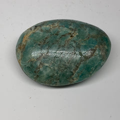 "110.2g,2.5""x1.9""x1"" Natural Untreated Amazonite Palm-Stone Polished Reiki,B1877"