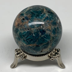 "275.5g, 2.2"" (55mm) Blue Apatite Sphere Ball Gemstone Healing Reiki, B6286"