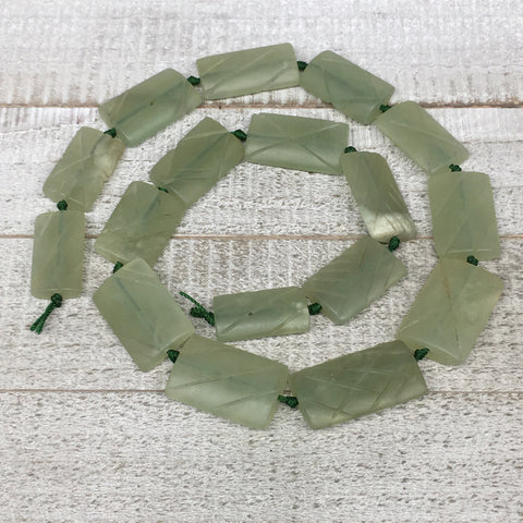 "135.6g, 27mm-35mm,17 Beads,Serpentine Rectangle Beads Strand Carved, 22"",BN240"