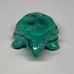"116.5g,2.6""x1.8""x0.8"" Natural Solid Malachite Frog Figurine @Congo,B7183"