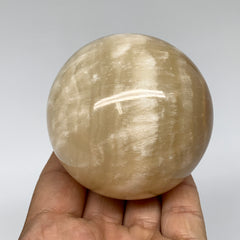 "430.1g, 2.7"" (67mm) Brown Calcite Sphere Gemstone, Healing Crystal, Ball, B2664"