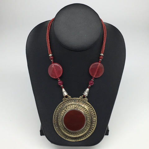 Turkmen Necklace Antique Afghan Ethnic Tribal Carnelian Beaded ATS Necklace VS23