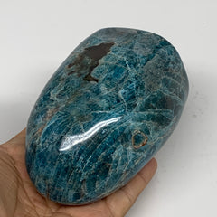 "770g,4""x2.8""x2.4"" Blue Apatite Polished Freeform Stands @Madagascar,B6325"