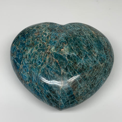 "8.73 lbs, 6.75"" x 7.5"" x3.1"", Natural Large Blue Apatite Heart Reiki Energy, B63"