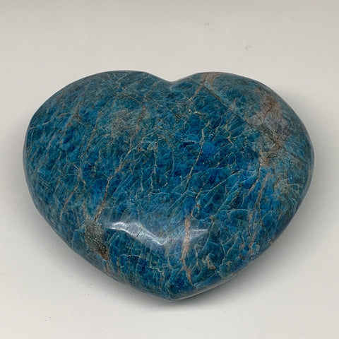 "7.1 lbs, 6.25"" x 7"" x2.9"", Natural Large Blue Apatite Heart Reiki Energy, B6327"