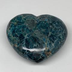 "3.21 lbs, 4.6"" x 5.2"" x2.3"", Natural Large Blue Apatite Heart Reiki Energy, B633"