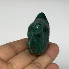 "87.9g, 2.5""x1""x1.4"" Natural Solid Malachite Duck Figurine @Congo, B7211"