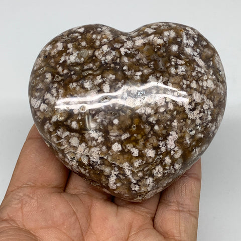 "227.5g, 2.7""x3""x1.3"" Agate Heart Polished Healing Crystal,  B3623"
