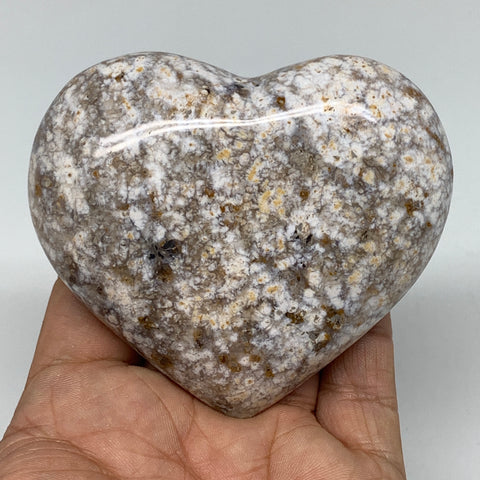 "224.8g, 2.8""x3.2""x1.2"" Agate Heart Polished Healing Crystal, B3628"