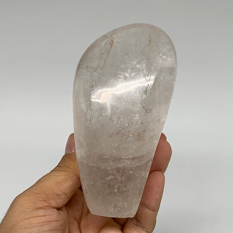 "520g, 4.5""x2.3""x2.2"" Natural Clear Quartz Freeform Crystal Polished, B5530"