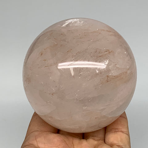 "682g, 3.1"" Natural Red Hematoid Sphere Crystal Ball Gemstones @Madagascar,B5537"