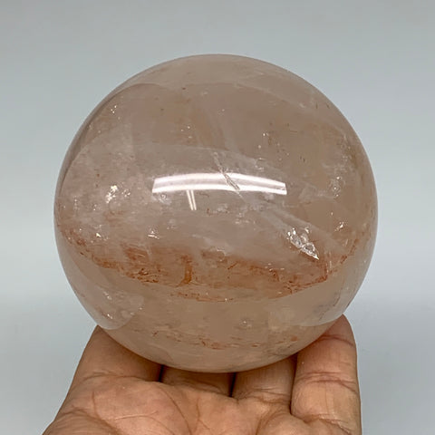 "702g, 3.1"" Natural Red Hematoid Sphere Crystal Ball Gemstones @Madagascar,B5543"