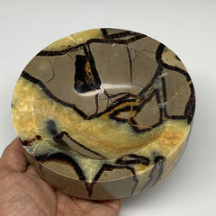 "1158g, 5.5""x1.4""x1.7"" Natural Round Septarian Bowl Plate Dish Ashtray, B6372"