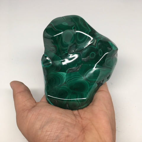 "602g,3.9""x4.5""x1.6"" Shiny Glassy Polish Natural Malachite Gemstone Congo,MS371 - watangem.com"