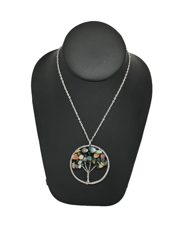 "80 cts Tree of Life Balancing Reiki Pendant from Brazil, Free 18"" Chain, Bp604"
