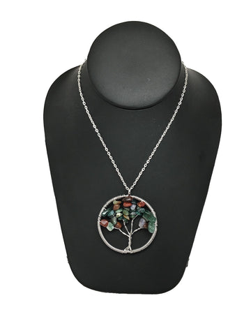 "76 cts Tree of Life Balancing Reiki Pendant from Brazil, Free 18"" Chain, Bp605"