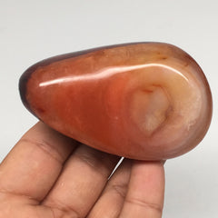 "163.4g, 3""x1.8""x1.4"" Natural Carnelian Tumbled Polished @Madagascar, MSP572"