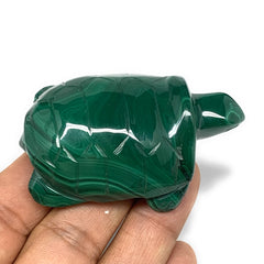 "109g,2.5""x1.6""x0.9"" Natural Solid Malachite Turtle Figurine @Congo,B7157"
