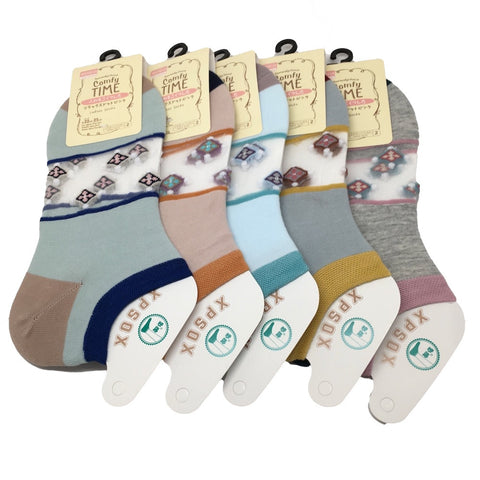 10Pairs,High Quality 5 different Color Low Cut Women's Socks -Size:22-25cm,Soc27 - watangem.com