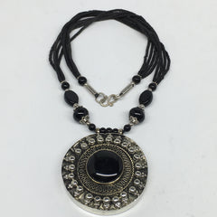 Turkmen Necklace Afghan Ethnic Tribal Fashion Bead Strands Pendant Necklace S143